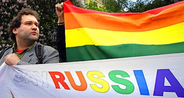 Homosexueller Aktivist in Moskau. Foto: AFP/EastNews