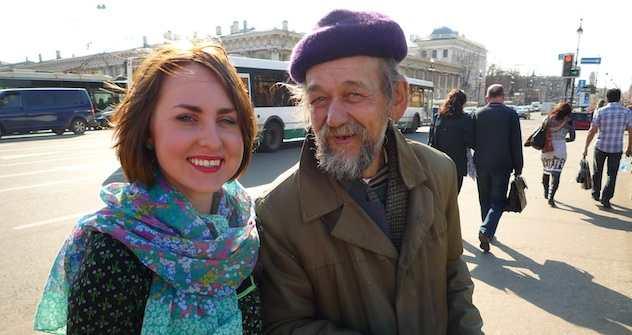 Nastja und der Künstler Pjötr. Foto: Anastasia Gorokhova