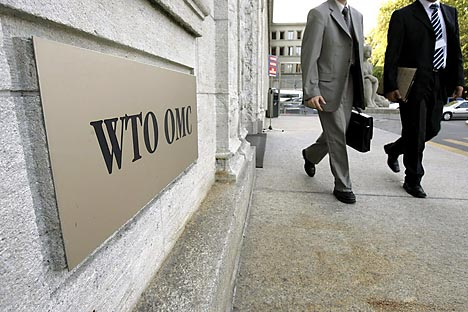 Though Russia stressed it is no longer interested in joining the WTO at any cost, now it's very likely to happen. Source: AP