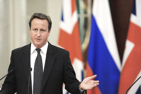 Prime Minister David Cameron's visit to Moscow in September had opened the way to a positive shift in political and economic Russian-British relations. Source: AP