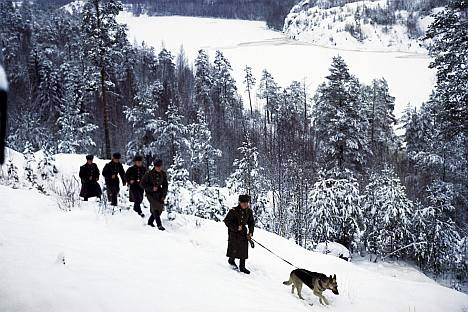 Pictured: Boarder guards on patrol. Source: RIA Novosti / Dmitryi Donskoy