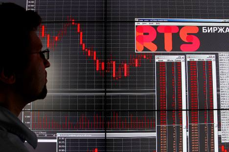Investors look to Russia's benchmark R.T.S. index for signs of future growth. Source: Getty Images / Fotobank