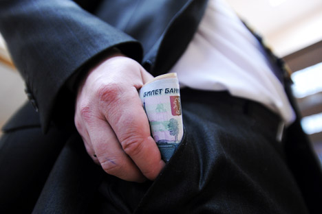 According to a recent study by Transparency International, Russian entrepreneurs are among the world's greatest bribe-givers, second only to the Chinese. Source: ITAR-TASS