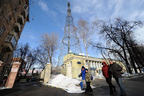 the legendary  Shukhov tower on Shabolovka Street. Source: ITAR-TASS