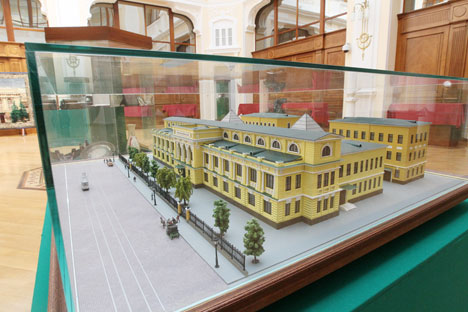 A model of Russia's Central Bank building in Moscow's Central Bank Museum. Source: RIA-Novosti