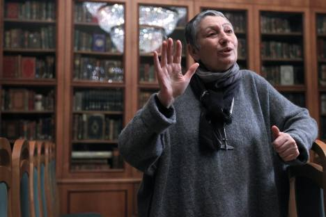 "Ludmila Ulitskaya, Russia's well-known writer, came up with a novel which champions  ""a personal religion of the mercy and love of God and one's neighbor, and not the religion of dogmas and authority, power and totalitarianism.""  Source: RIA Novosti"
