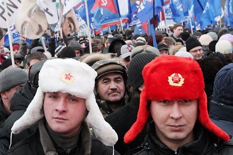 Post-election protests in Pushkin Square. Source: RIA Novosti / Sergey Mamontov