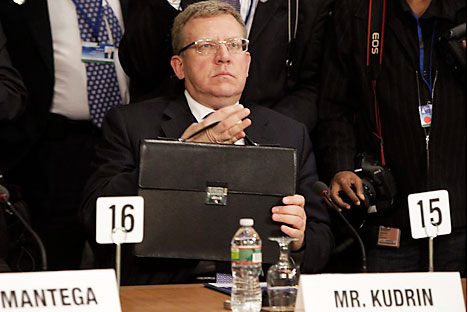 Kudrin left his post Sept. 26 after a public conflict with Medvedev. Source: Reuters