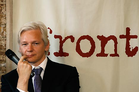 WikiLeaks founder Julian Assange. Source: Reuters / Vostock-Photo