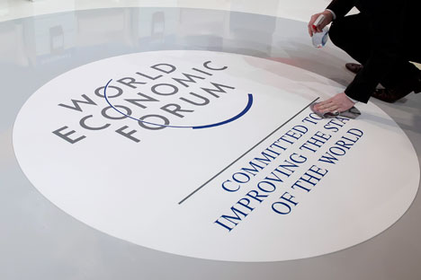Instead of discussing  the current problems, the participants of the world economic forum in Davos deal with the long-tern goals. Source: ITAR-TASS