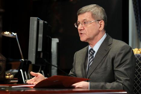 Russia's Prosecutor General Yury Chaika. Source: ITAR-TASS