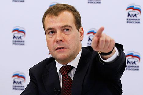 "Russia's President Dmitri Medvedev claims that if Russia has learned how to build theaters ""it can also build an international financial center."" Source: ITAR-TASS"
