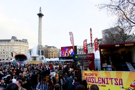 Maslenitsa in London. Source: RIA Novosti / Valery Levitin