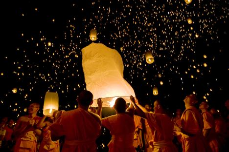 The first Ceremony of Light offering to Buddha was held last month in Elista, the capital of Kalmykia. Source: Getty Images / Fotobank