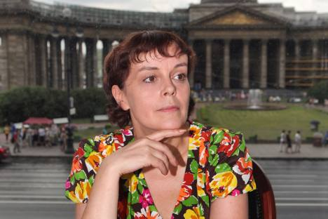 Elena Chizhova, Russia's writer partarying the life of the Soviet Leningrad. Source: ITAR-TASS