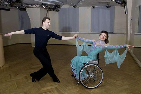 "The Spiritualization Rehabilitation Center in Moscow helps people with disabilities to adjust to the normal life  with so-called ""dance therapy"". Source:Press Photo"