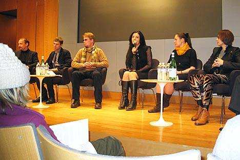Russian young writers presenting their works in the New York Public Library. Source: Elena Sarni