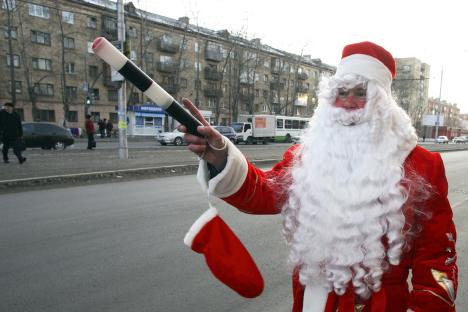 Cold comfort: Ded Moroz inspires the festive spirit. Source: Reuters/Vostock-Photo