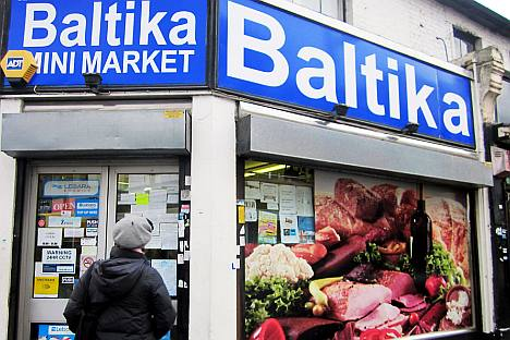 Baltika Minimarket, a Russian shop in London. Source: Phoebe Taplin
