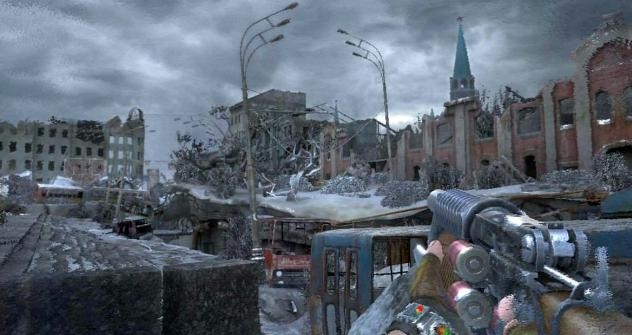 "Screenshot from ""Metro-2033"" videogame based on the novel by russian author"
