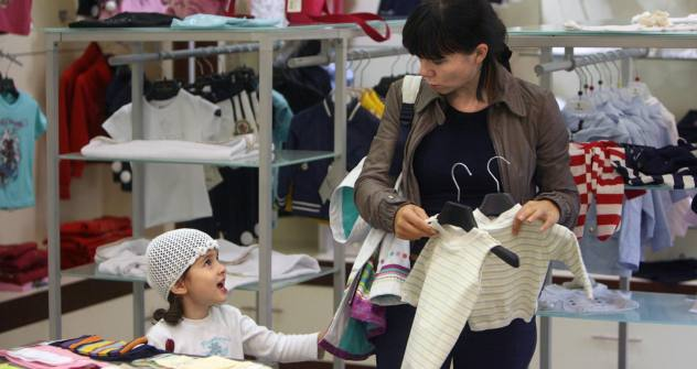 Spoilt for choice: the children's goods sector surges ahead. Source: Kommersant