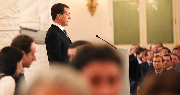 Dmytry Medvedev's annual address indicated that the president wants to liberalize Russia's political system. Source: Rossiiskaya Gazeta / Konstantin Zavrazhin