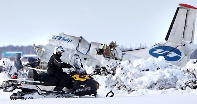 The French-Italian-built ATR-72 plane heading to Surgut crashed 30 kilometers from its departure point of Tyumen shortly after takeoff, Russia Today TV Channel said.  Source: RIA Novosti