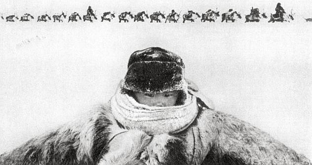 Soviet photographer Gennady Koposov won the 1964 WPP contest. Features: Fifty-five degrees below in the northern tundra. Source: RUSSPRESSPHOTO