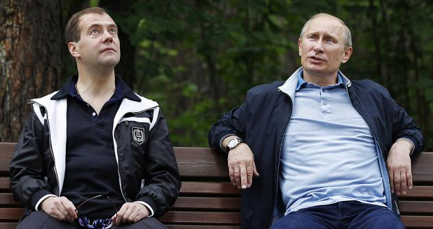 Face value: Mr Medvedev is seen as a democrat and a liberal, and Mr Putin as a conservative supporter of strong government. Source: Reuters
