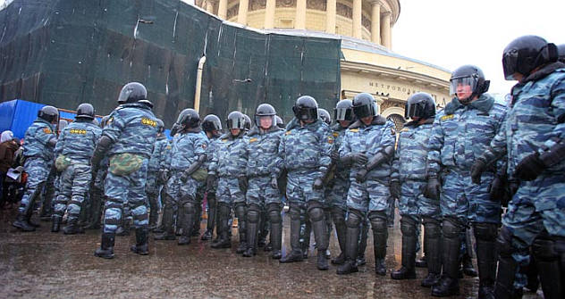 While the Moscow rally was comparably peaceful, the one in St. Petersburg was cracked down by the local police, according to some media outlets. Source: Ricardo Marquina Montañana / RBTH