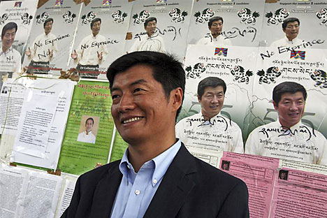 Mr. Lobsang Sangay, the newly elected prime minister of Tibet.      Source: Reuters/Vostock Photo