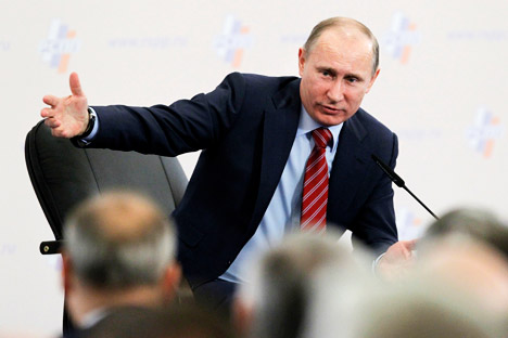 Putin has a desire to appeal to voters who believe that Russia should play a leading role on the global scene and stand up for its interests. Source: AP