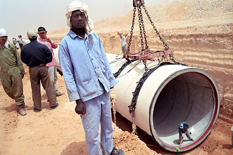 Russian companies are involved in a number of gas projects in Africa. Photo: Laif/ Vostock Photo