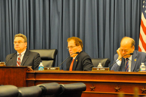 Chairman Smith, and Commissioners Gingrey and Cohen at a U.S. Helsinki Commission Hearing. Source: www.house.gov