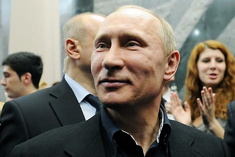Although the political Putin has been demonized in the Western press, Russians welcomed him. Source: ITAR-TASS