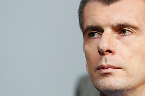 Mikhail Prokhorov faces a tough decision. Source: Reuters / Vostock Photo