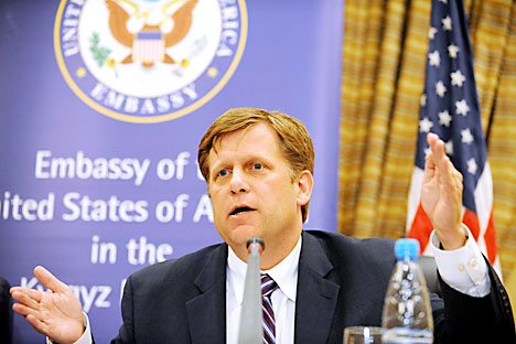 Michael McFaul will probably bring nothing more to the US-Russian reset. Source: ITAR-TASS