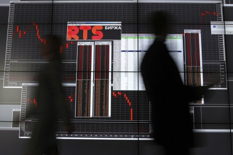 Taking the plunge: the RTS dollar index fell by 18pc. Source: Getty Images / Fotobank