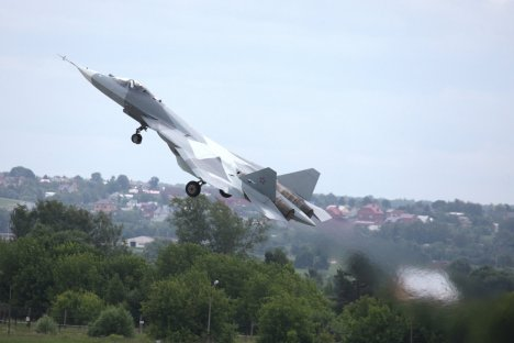 Testing time: the T-50 managed one successful flight. Source: RIA Novosti