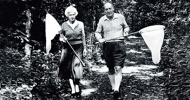 Vladimir and Vera Nabokov on the butterfly trail. Photo: Courtesy of Christie's