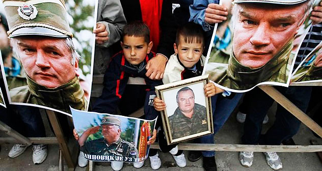 Protests in support of Mladic in Kalinovik, 30 miles southeast of Sarajevo, May 29, 2011. Photo: Reute.rs