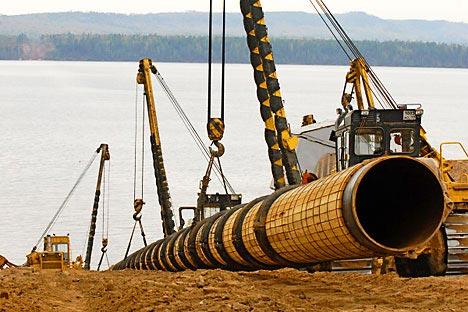 The Eastern Siberia–Pacific Ocean (ESPO) oil pipeline.   Source: RIA Novosti