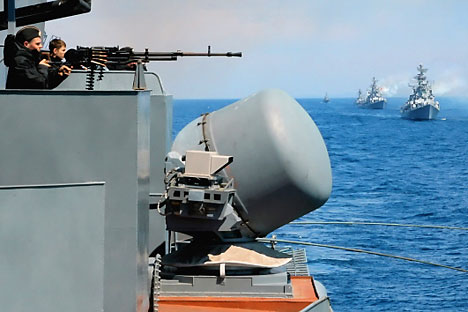 Indra-2007 training drills in the Sea of Japan (East sea).   Source: RIA Novosti