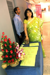 Dr. Nivedita Das Kundu at the function dedicated to the book resease.