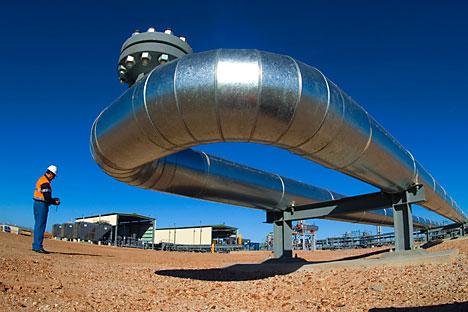 Proyecto de metano de mantos de carbón en el yacimiento Taldinskaya, distrito de Prokopyevsk, región de Kemerovo, operado por el monopolio ruso del gas Gazprom. Fuente: AFP/East News.