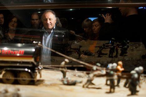 Der österreichische Kurator Peter Weibel bei der Biennale. Foto: Pressephoto der Biennale