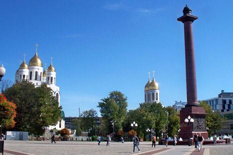 Zentrum von Kaliningrad ist der Siegesplatz mit der Christ-Erlöser-Kathedrale. Foto: Privat