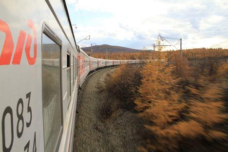 Die Transsibirische Eisenbahn die längste durchgehende Eisenbahnverbindung der Welt und die Hauptverkehrsachse Russlands. Foto: Andrej Kutschurenko