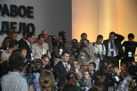 Mit oder ohne Partei, Michail Prochorow bleibt eine beliebte Medienperson. Foto: Susanna Spahn