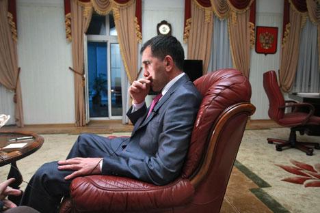 Yevkurov, presidente de Ingushetia. Foto de Kommersant